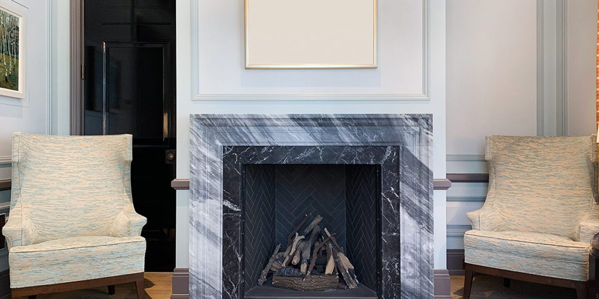 Marble Fire Place In Reception 1366x683
