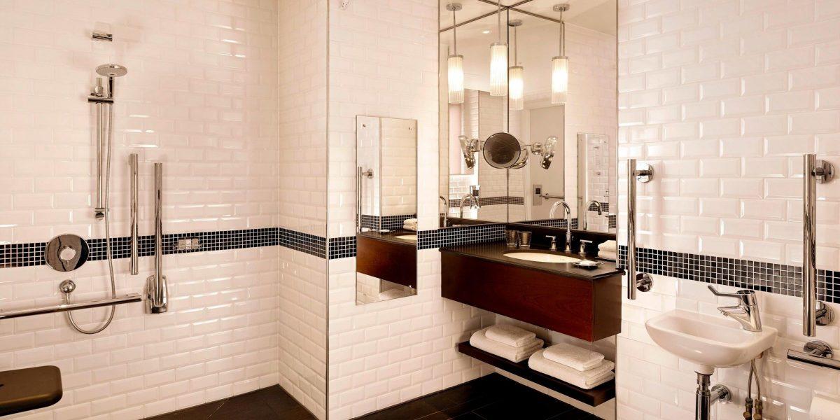 Sheraton London Accessible Guest Bathroom Nero Assoluto Vanity Top 2400x1200
