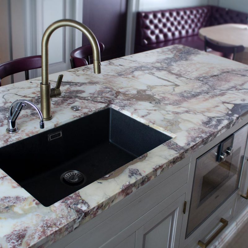 Breccia Capraia Marble Kitchen Worktop Supplied And Installed By Marble And Granite Ltd