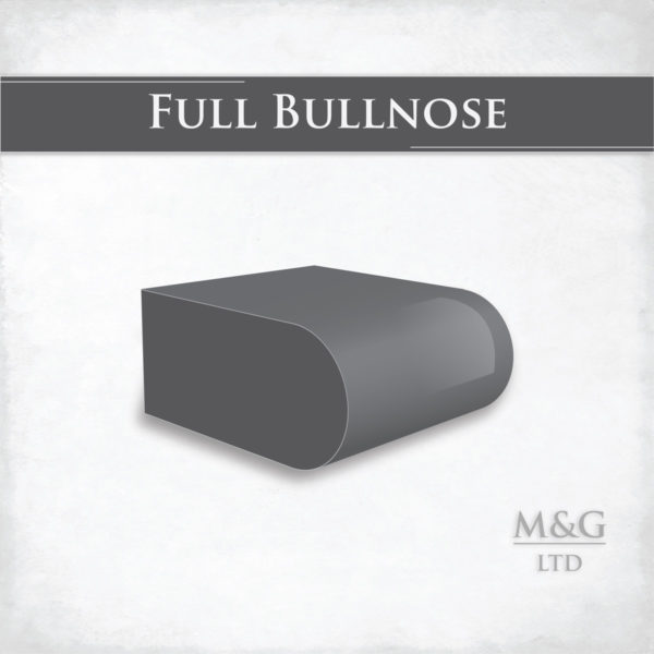 Full Bullnose Edge Profile Worktop Edge Marble And Granite Ltd