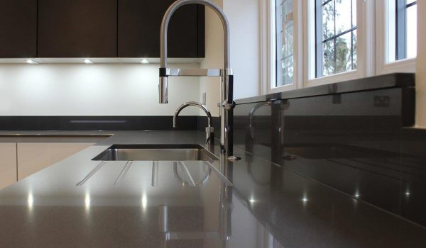 Grey Quartz Kitchen Worktop Supplied And Fitted By Marble And Granite Ltd Image Courtesy Inline Designs Loughton