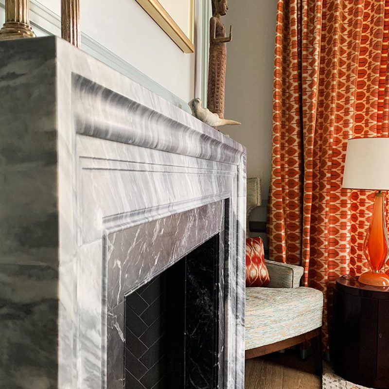 Marble Fireplace In Reception Room