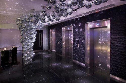 Polished Nero Assoluto Granite Floor Tiles In The W Hotel