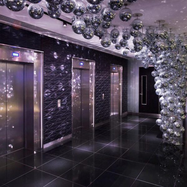 The W Hotel Lift Lobby Polished Granite Tiles By Marble And Granite Ltd