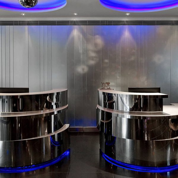 The W Hotel Lift Lobby Polished Granite Tiles And Silver Stud Mosaics By Marble And Granite Ltd 6