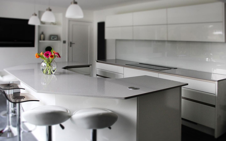 Angular-quartz-stone-kitchen-island