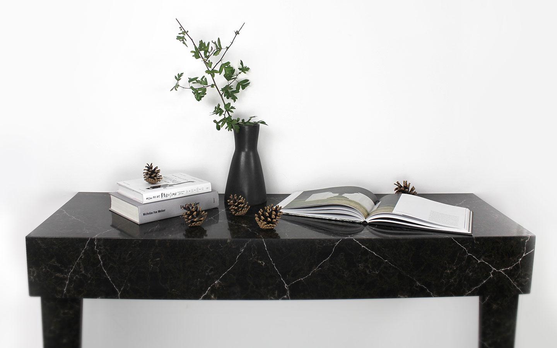 Custom made quartz stone console table