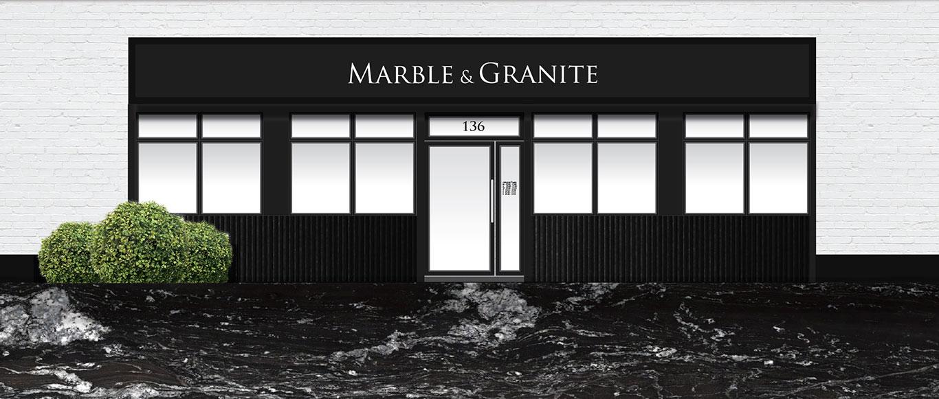 Illustration of the Marble and Granite Ltd shopfront in Hatfield