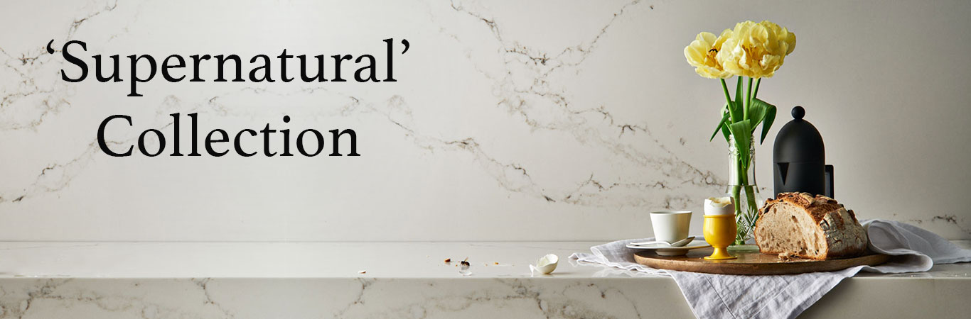 Image leading to the Supernatural Collection colours from Caesarstone