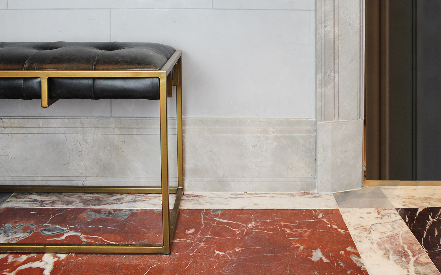 Marble flooring and skirting