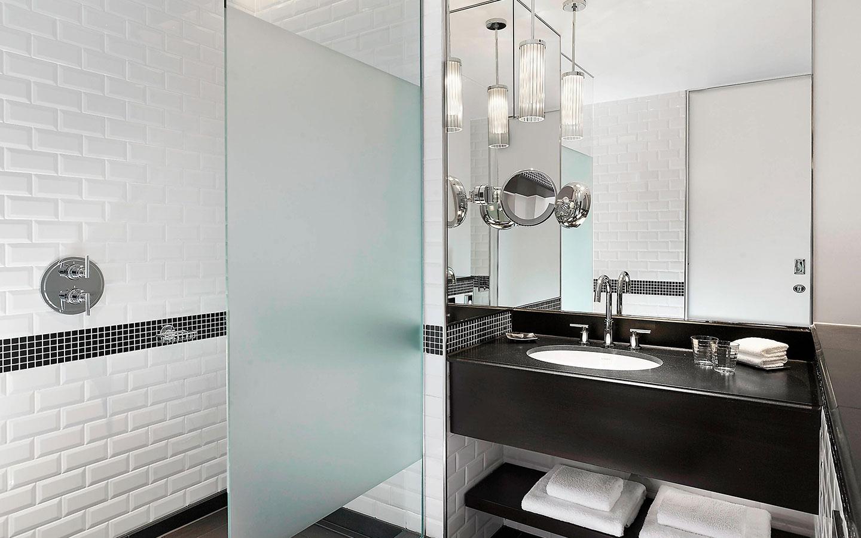 Sheraton Park Lane Hotel - Honed Nero Assoluto granite vanity